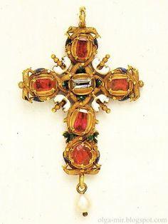 Pendant, gold, enamel, rubies, diamonds, pearls, Germany, 1500