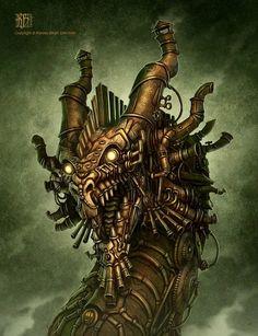 Steampunk Dragon by Kerem Beyit  http://kerembeyit.deviantart.com/art/Steampunk-Dragon-130083473