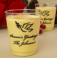 Sip on eggnog in style with these adorable Christmas cups with your personalization. Choose your own design to compliment your holiday party!