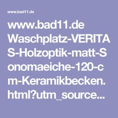 Amazing  bad de Waschplatz VERITAS Holzoptik matt Sonomaeiche