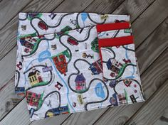 Childs town placemats quilted fabric placemats by 3Jenerations