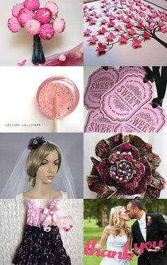 Etsy Finds Black and Pink Wedding Inspired Accessories by First Look Veils on Etsy--Pinned with TreasuryPin.com