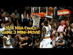 Behind Lebron James and Kyrie Irving's powerful performances, The Cavaliers bounced back in compelling fashion to take Game 3 of the 2016 NBA Finals. James Games, Nba Finals Game, Alley Oop, Basketball Videos, Sports Highlights, Game 3, Lebron James, Mars, Baseball Cards