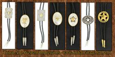 Featured Bolo Ties from Tribal And Western Impressions- http://www.indianvillagemall.com/menswesternbolosets.html