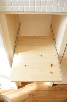 キッチンをプチリメイク(1)~炊飯器台編~ | トラミのおうち Tiny Living, Kitchen Storage, Home Organization, Interior And Exterior, Wood Projects, Life Hacks, Bedroom Decor, Shelves, House