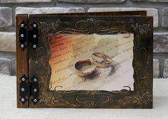 Album do zdjęć ślubny drewniany - glowapelnapomyslow - Albumy ślubne