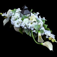 Funeral Flower Arrangements, Funeral Flowers, Floral Arrangements, Grave Decorations, Gerbera, November, Crown, Handmade, Photography