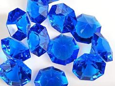 Royal Blue 25 Carat Acrylic Diamonds -  perfect goodie bag treat for your Minecraft Party and great for decoration too!