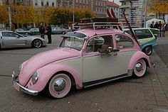 vintage my-first-car-was-a-hot-pink-vw-beetle