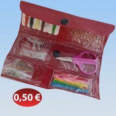 Σετ ραπτικής ταξιδιού σε πορτοφολάκι 0,50 €-Ευρω