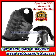Product details: •Please Note: This Listing is for one Helmet & Breastplate. Other Products Shown in Pictures are not part of this sale •Height of Helmet : about 19 inches •helmet Circumference : 26.69 inches •Helmet Made from : 18 Gauge Iron Steel (black coated) •Brand New : Never used. •Lea... more details available at https://perfect-gifts.bestselleroutlets.com/gifts-for-holidays/water-sports-items/product-review-for-greek-spartan-helmet-leather-muscle-armo