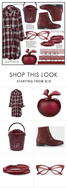 """Red apple picking"" by puljarevic ❤ liked on Polyvore featuring Gap, Lalique, Cafuné, PS Paul Smith, BillyTheTree and applepicking"