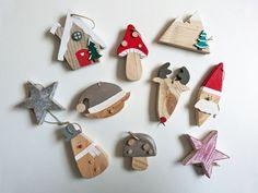 Lot de 10 décorations de Noël en bois : Accessoires de maison par madame-ki