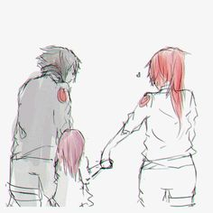Sasuke x Karin | SasuKarin | Ice & Spice | Blue & Red | future family ♡❤️♥︎