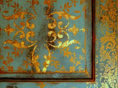 Gold Leafing and Distressed Door Makeover ( Call the girls over and enjoy doing a Project together or call them after and enjoy a Martini) My choice is the Second!