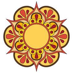 Mandala Doodle, Mandala Drawing, Mandala Painting, Islamic Art Pattern, Pattern Art, Simple Mandala, Mandala Coloring Pages, Flower Mandala, Happy Colors