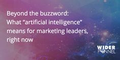 In this post, we break down the buzzword to discover what artificial intelligence in marketing really means. Viral Marketing, Social Media Marketing, Digital Marketing, My Twitter Account, Right Now, Artificial Intelligence, Connect, Campaign, Learning