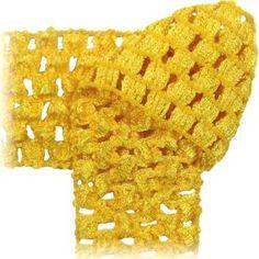 Crochet by the Yard - soft stretchy fabric, headbands- Yellow