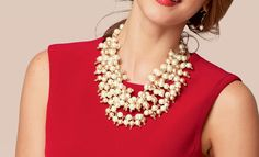 Sofia Pearl bib shop now , ask me how you can become a stylist, or repin for a chance to take home free http://www.stelladot.com/denikaclay