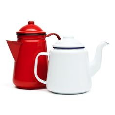 hedgehogshop enamel tea & coffee pots