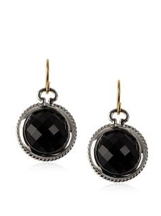 70% OFF Monica Rich Kosann Faceted Onyx Dangle Earrings