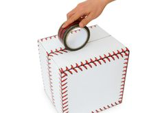 Baseball stitches printed gift packaging tape