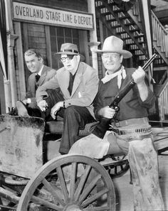 James Stewart, John Ford and John Wayne.  #jamesstewart   #johnford   #johnwayne