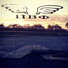 Pi Phi car window decal #piphi #pibetaphi