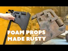 [Punished Props] Bill & Britt showcase a couple of finishing techniques to make your foam prop weapons look like they're real rusty metal! Costume Tutorial, Cosplay Tutorial, Cosplay Diy, Cosplay Costumes, Foam Costumes, Awesome Cosplay, Cosplay Ideas, Theatre Props, Stage Props