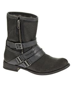 Loving this Black Paula Leather Boot on #zulily! #zulilyfinds