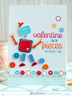 In Pieces Without You Card by Betsy Veldman for Papertrey Ink (December 2014)