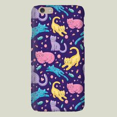 Playful Kittens Pattern iPhone case by noondaydesign on BoomBoomPrints