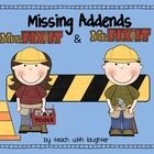 This missing addend activity will have students finding the missing addends of 16 different addition sentences with sums up to 20.