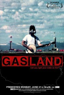 GasLand. About exploitation and gross corporate abuse by energy companies hydraulic fracturing. Poisoned, flammable water. Tons of chemicals are leached through homeowners' and farmers' land. Livestock die. Citizens become ill. And they can literally set their tap water ablaze it's so polluted with toxic chemicals. If you don't view this doc, YouTube search fracking fire water.