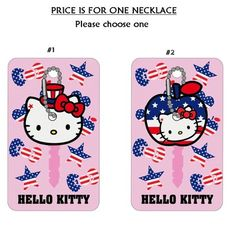 hello kitty fourth of july nails