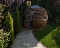 Archipod... I want a coconut office in my garden, please.