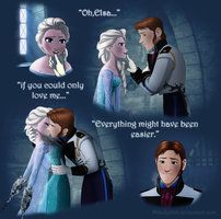 Hans and Elsa, this comic is an interesting idea for how Frozen could have been. NOPE the art is very good but Elsa is chained and Hans is forcing her to kiss him when she clearly doesn't want to, this is disgusting Funny Disney Jokes, Disney Memes, Disney Quotes, Disney Parody, Elsa Y Jack Frost, Jack And Elsa, Disney And Dreamworks, Disney Pixar, Walt Disney