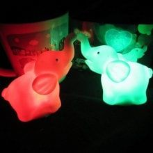 Cute Elephant RGB LED Night Light 2PCS Cute Night Lights, Led Night Light, Cute Elephant, Night Lamps, Led Ceiling Lights, Dinosaur Stuffed Animal, Elephants, Colorful, Couple