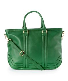 Another great find on #zulily! Green Convertible Satchel by Nila Anthony #zulilyfinds