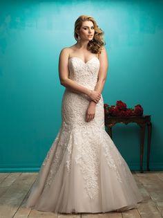 ea9aa3a8fb10a Allure Bridals W363 Illusion Neckline Wedding Dress, Bridal Gown Styles, Wedding  Dress Styles,
