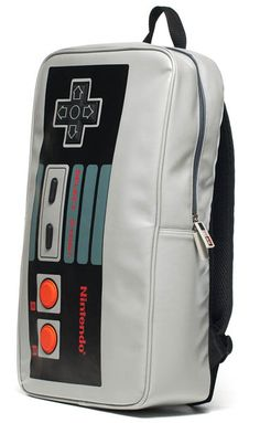 ThinkGeek :: Nintendo Controller Backpack, kinda cool/old school Mochila Retro, Geeks, Mode Geek, Nintendo Controller, Grey Backpacks, Pokemon, Geek Out, Geek Gifts, Geek Chic