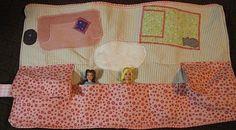 !!!!♥ Feltro-Aholic ♥ Moldes e pap em feltro e feltro estampado!: Carteira porta-Polly Pockets