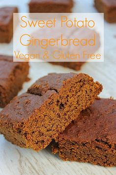 Sweet potato gingerbread - fantastic flavor! omitted the sugar altogether. baked 40 min in 8x11 - also works with 1/2 the molasses for lighter flavor [but then it needs ~1/4 tsp salt? or drizzle with maple for more punch]