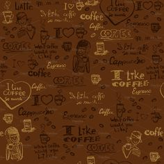 Seamless coffee patterns by Macrovector on Creative Market