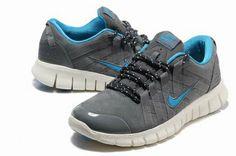 Mens Nike Free Powerlines Suede Grey Blue        #Grey  #Womens #Sneakers