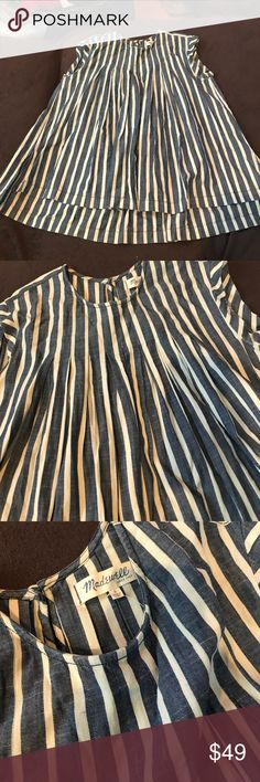 Madewell babydoll top So cute!! Perfect over 👖 jeans, leggings or with a pencil skirt. This is just adorable. It's fully pleated and 100% cotton.  Awesomeness. Tags are gone but this is new and never worn. Madewell Tops Tunics