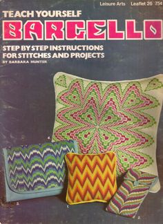 Teach Yourself Barcello 1972 Booklet by Leisure Arts 7 Easy Stitches by PrettyfulPatterns on Etsy