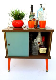 There is always a bar in mid century homes.