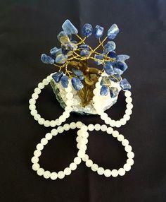 Genuine Snow Quartz Bracelet w/8mm Beads by LunaValleyCrystals