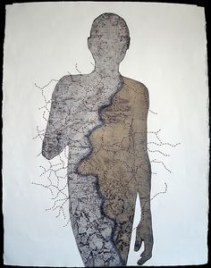 Unfinished Untitled Collagraph artist patrick boehner